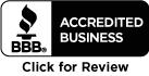 Better Business Bureau Accredited Business - Click for Review
